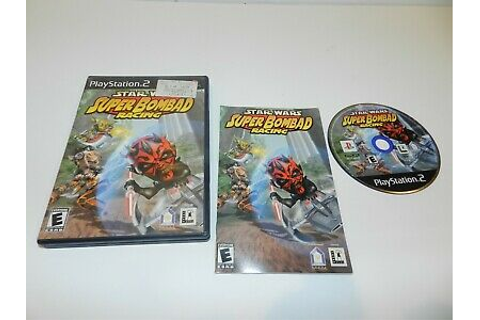 Star Wars Super Bombad Racing Sony Playstation 2 PS2 Game ...