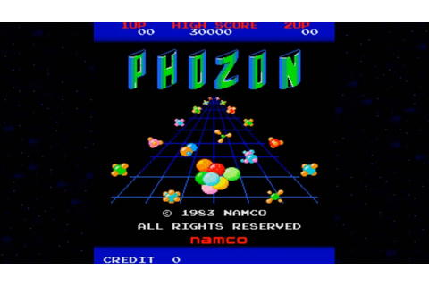 Phozon 1983 Namco Mame Retro Arcade Games - YouTube