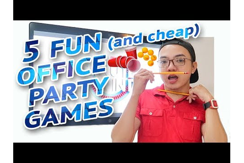 5 FUN and CHEAP PARTY GAMES AT WORK 🎲 | Minute To Win It ...