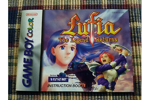 Lufia The Legend Returns - Authentic - Nintendo Game Boy ...