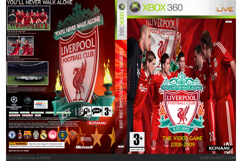 Liverpool FC The Video Game 2008-2009 Xbox 360 Box Art ...