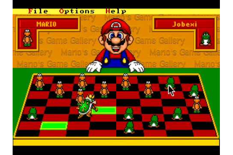 Mario's Game Gallery - 1995 - Checkers - YouTube