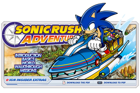 Sonic Rush Adventure - ds - Walkthrough and Guide - Page 5 ...
