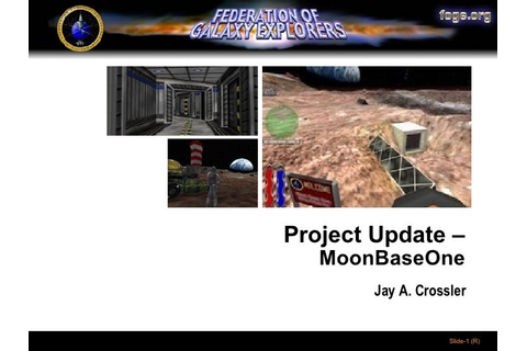 Game Design 4 - Moon Base One example
