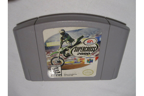 SuperCross 2000 (Nintendo N64) Game Cartridge Excellent ...