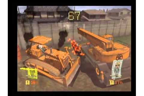 Battle Construction Vehicles Playstation 2 Gameplay - YouTube