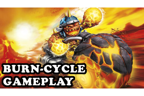 Skylanders Superchargers - Burn-Cycle GAMEPLAY - YouTube