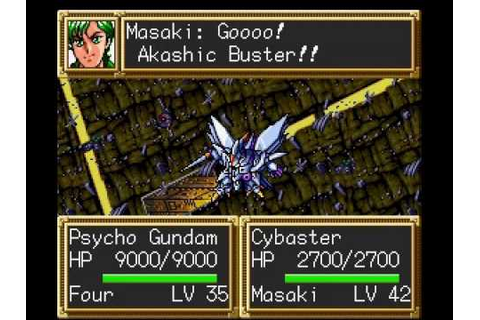 SNES Super Robot Wars 3 - YouTube