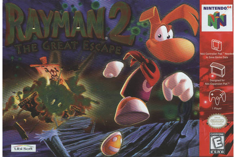 Rayman 2: The Great Escape Nintendo 64 Game