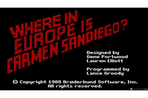 Where in Europe is Carmen Sandiego? gameplay (PC Game ...