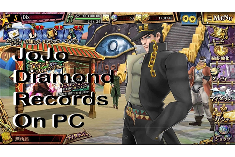 How to play Jojo's Bizarre Adventure Diamond Records On PC ...