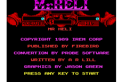 Mr. Heli (1989) by Probe Software ZX Spectrum game