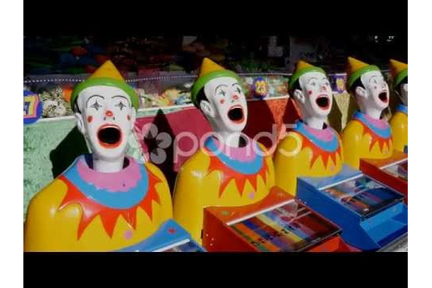 circus clown carnival game 25p - YouTube