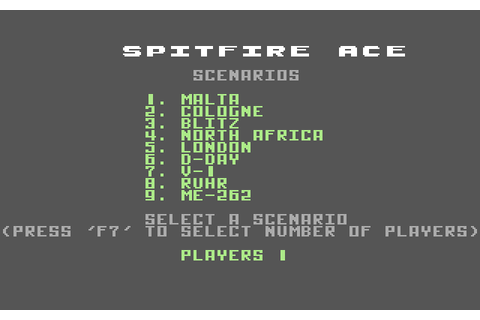 Spitfire Ace (1984) by Microprose C64 game