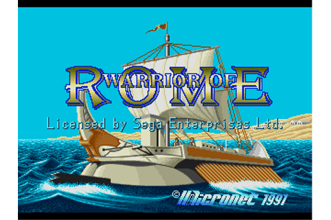 Download Warrior of Rome (Genesis) - My Abandonware