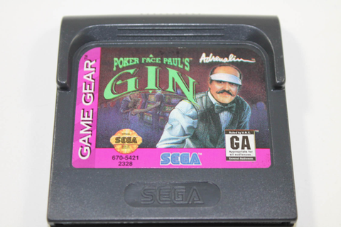 Poker Face Paul's Gin - Sega Game Gear