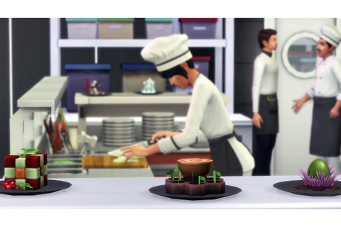 LES SIMS 4 - Au Restaurant Trailer VF - YouTube
