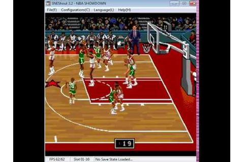 NBA Showdown - Super Nintendo - emulador SNEShout 3.2 ...