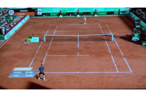 Grand Slam Tennis 2 PS3 Gameplay (AI:SUPERSTAR) Federer Vs ...