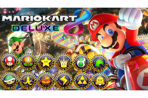 Mario Kart 8 Deluxe - All Tracks 200cc (Full Race Gameplay ...