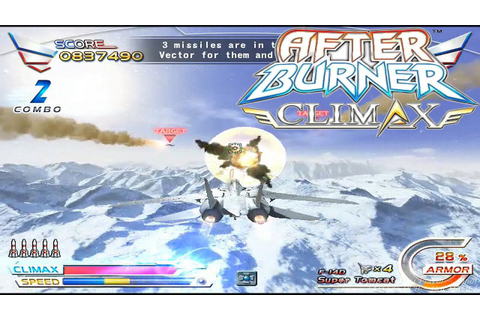 After Burner Climax Arcade - Full Game Playthrough(Ending ...
