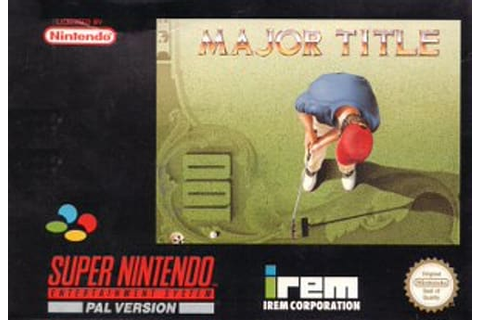 Buy Major Title SNES on Retro Consoles | GAME
