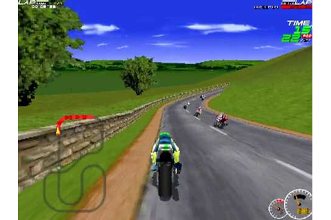 Moto Racer (1997) - Superbike courses - YouTube