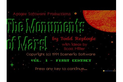 Monuments of Mars - 1991 PC Game, introduction and ...