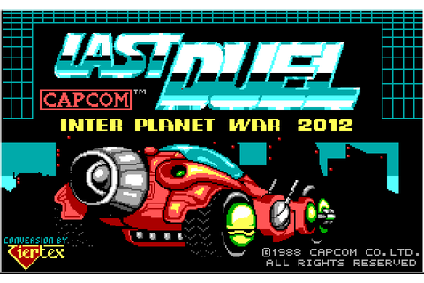Last Duel: Inter Planet War 2012 (1989) by Tiertex MS-DOS game