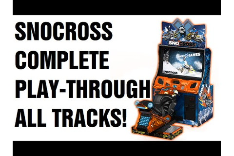 SNOCROSS X Arcade Snowmobile Game COMPLETE PLAY THROUGH ...
