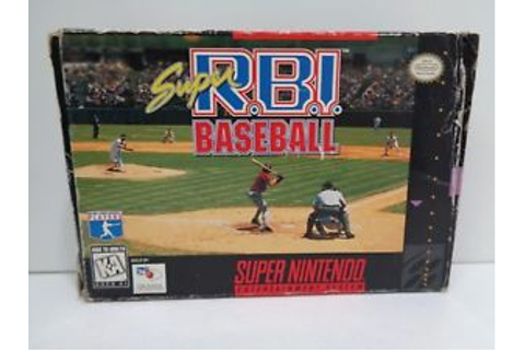 Video Game - Super Nintendo SNES SUPER R.B.I. BASEBALL ...