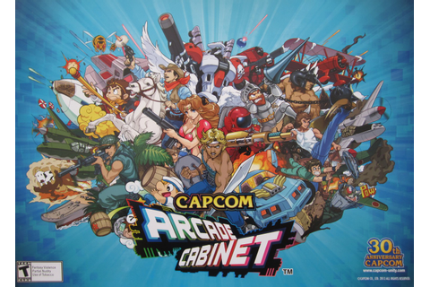 Arcade Cabinet video game CAPCOM promo 14x20 poster MINT ...