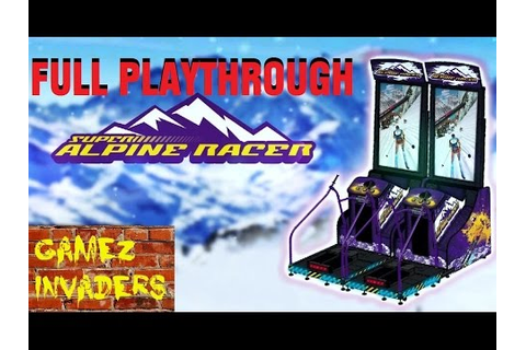 Super Alpine Racer Arcade Ski Game FULL PLAY THROUGH - YouTube