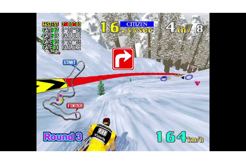 SEGA SKI SUPER G - SEGA Model 2 (HD Advanced Gameplay ...