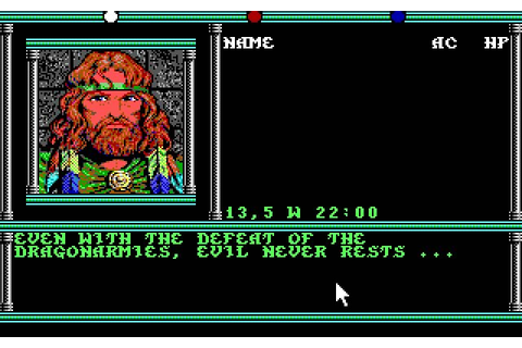 Download Champions of Krynn rpg for DOS (1990 ...