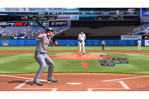 Major League Baseball 2K7 PlayStation 3 Gameplay - Red Sox ...