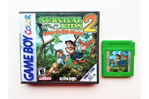 Survival Kids 2 w/ Custom Case Box Game Boy Color GBC ...