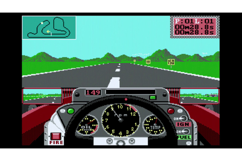 Grand Prix Circuit (PC, DOS, 1988): Trying to beat DOS ...