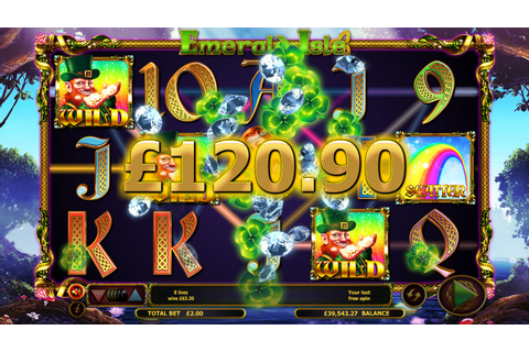 Play Emerald Isle Slots Machine at Pots of Gold Lucky Casino