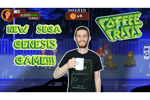 New Sega Genesis Game??? Coffee Crisis Review - YouTube