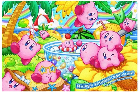 Kirby mass attack! At the beach! | Kirby | Kirby games ...