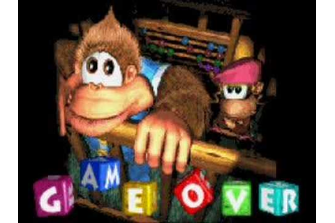 Donkey Kong Country 3 (GBA) - Game Over Screen - YouTube