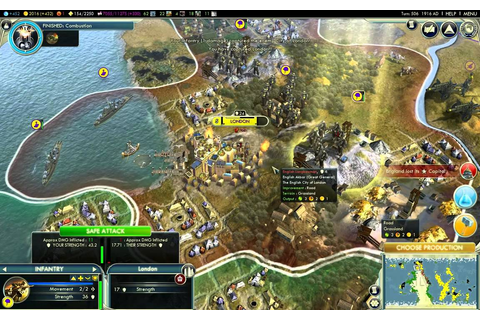 Civilization 5 gameplay - The Endless War HD - YouTube