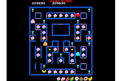 Arcade Game: Super Pac-Man (1982 Namco) - YouTube