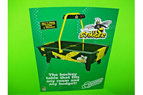 Dynamo STINGER Vintage Original Arcade Game Air Hockey ...