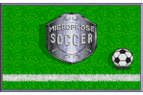 Microprose Soccer screenshots for Amiga OCS