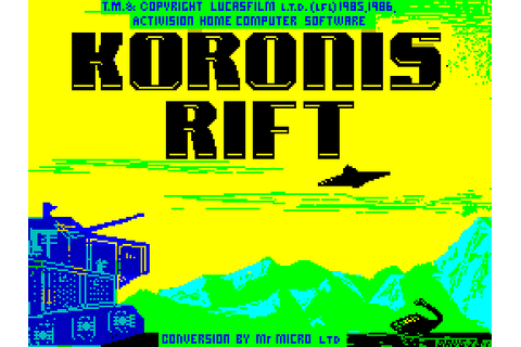 Koronis Rift (1987) by Mr. Micro ZX Spectrum game