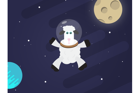 Space Sheep by Filip Samardzic on Dribbble