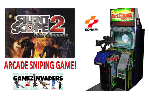 Konami's SILENT SCOPE 2! Dark Silhouette Arcade Sniper ...