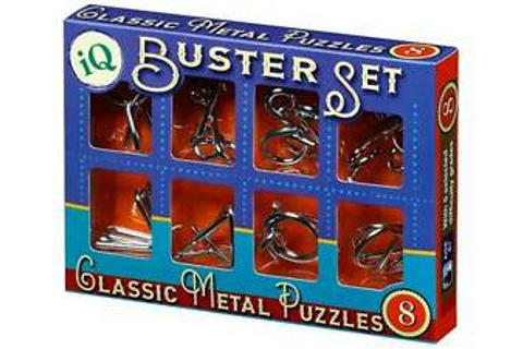 IQ BUSTER SET OF 8 METAL PUZZLES CLASSIC BRAIN TEASER MIND ...
